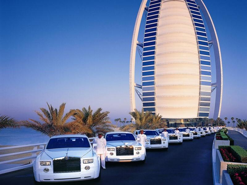 Les véhicules du Burj Al Arab