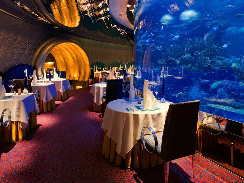 Le restaurant Al Mahara