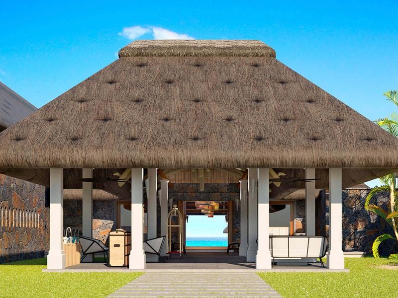 L'entrée de l'hôtel C Mauritius situé à Palmar