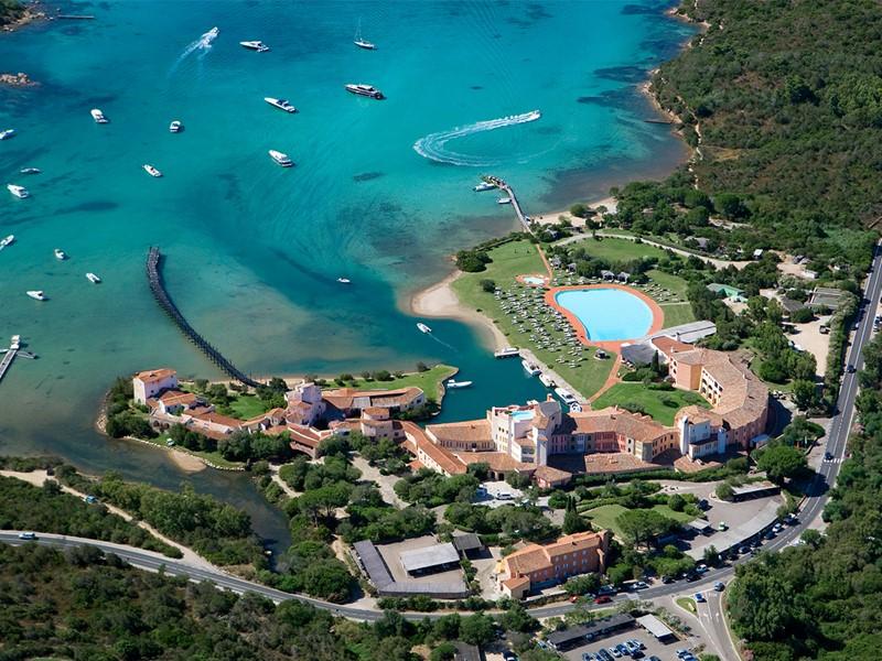 Vue aérienne de l'hôtel Cala di Volpe
