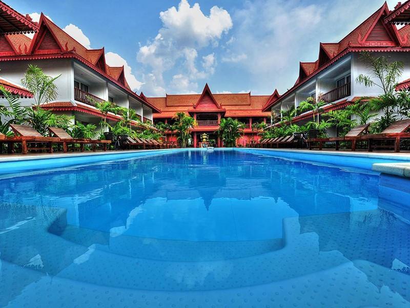 La piscine de l'hôtel Preah Vihear Boutique
