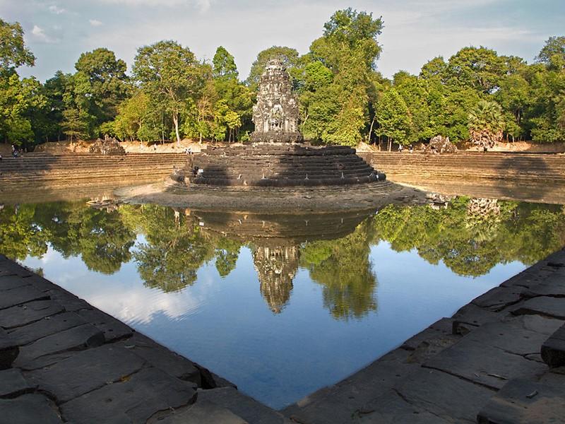 Vue du Neak Pean situé à Siem Reap
