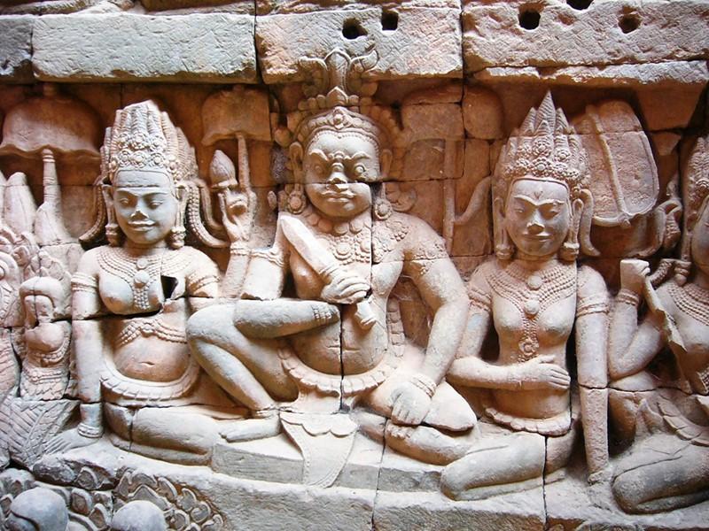 La terrasse du Roi Lépreux d'Angkor Thom