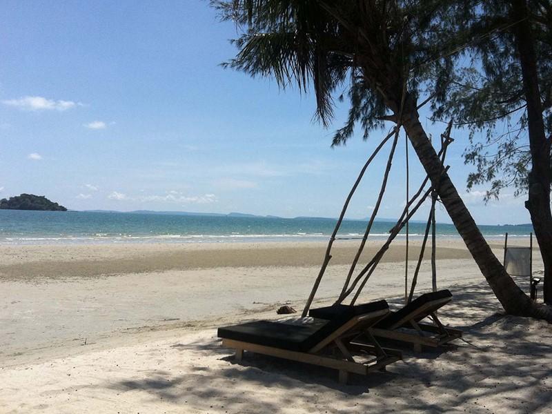 Vue d'une des plages de Sihanoukville