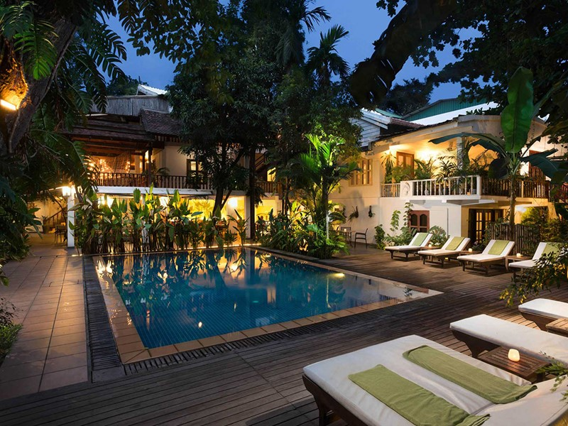 La piscine de la Villa Langka à Phnom Penh