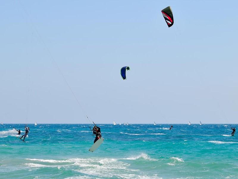 Le spot de kite-surf très réputé du Cap Est Lagoon
