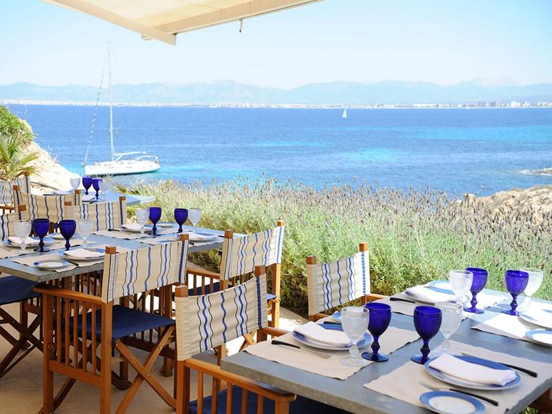 Restaurant Sea Club de l'hôtel Cap Rocat aux Baléares