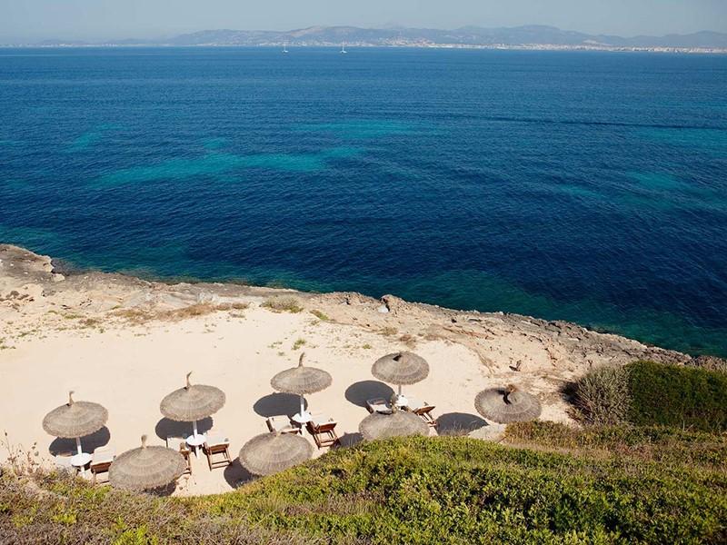Plage du Cap Rocat dans la baie de Palma de Majorque