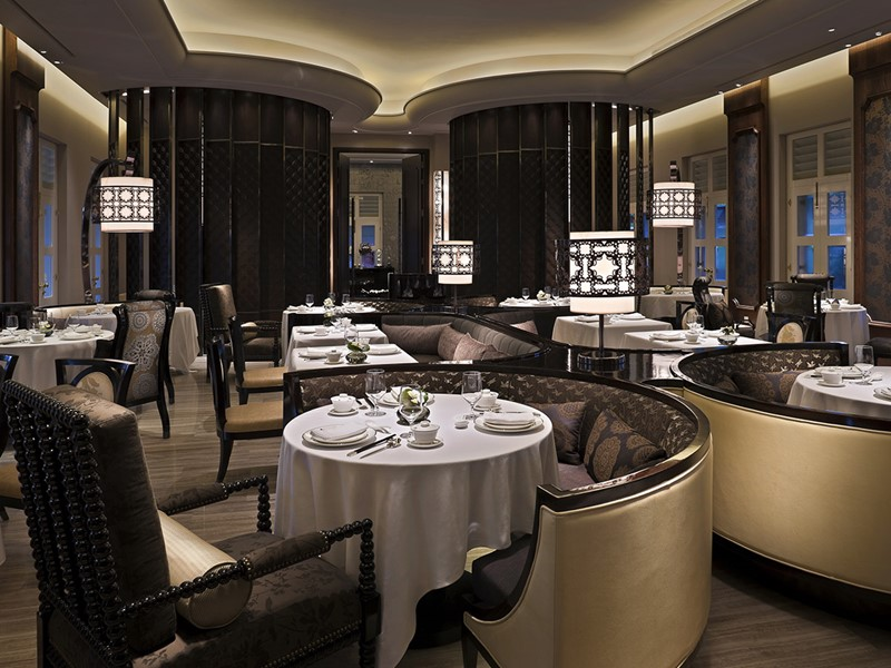 Le restaurant Cassia du Capella Singapour sur l'île de Sentosa