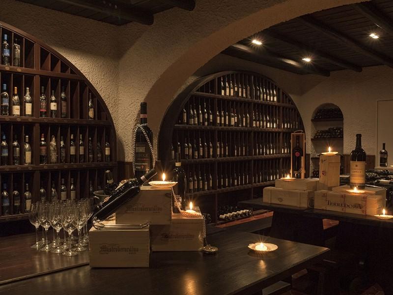 La cave à vin Dolce Vita de l'hôtel Capri Palace