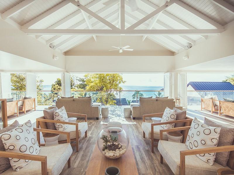 Le lobby du Carana Beach, un boutique hôtel de charme