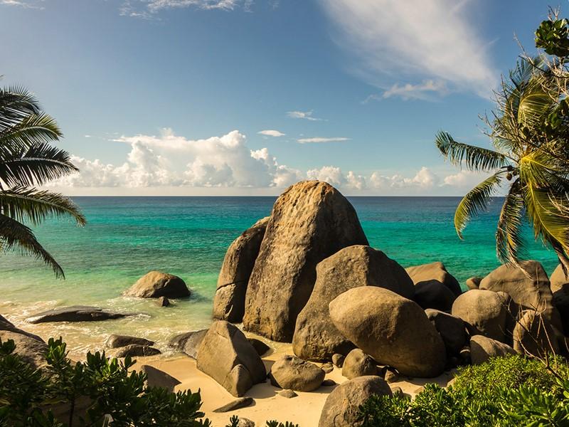 Les rochers granitiques typiques des Seychelles