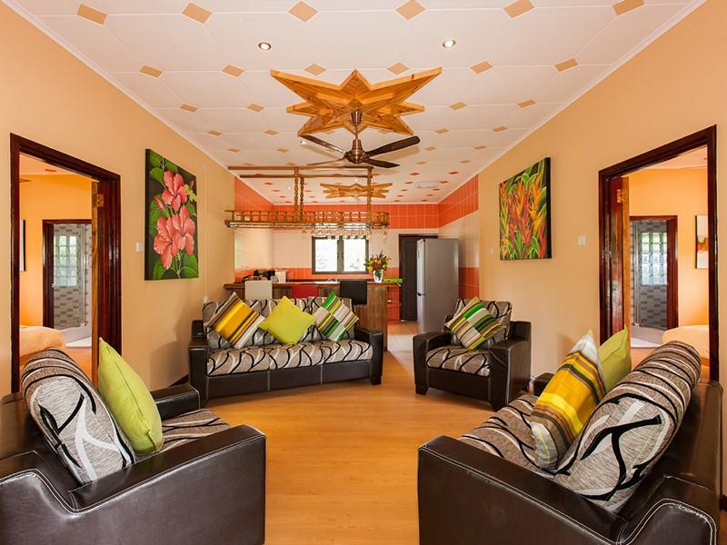 Le salon de la Two Bedroom Superior Bungalow du Casa de Leela