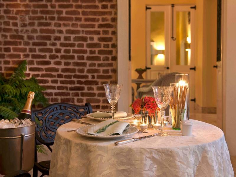 Appréciez un dîner romantique