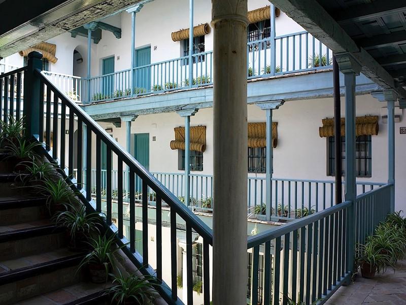 Vue des chambres de l'hôtel Hospes Las Casas del Rey de Baeza en Espagne
