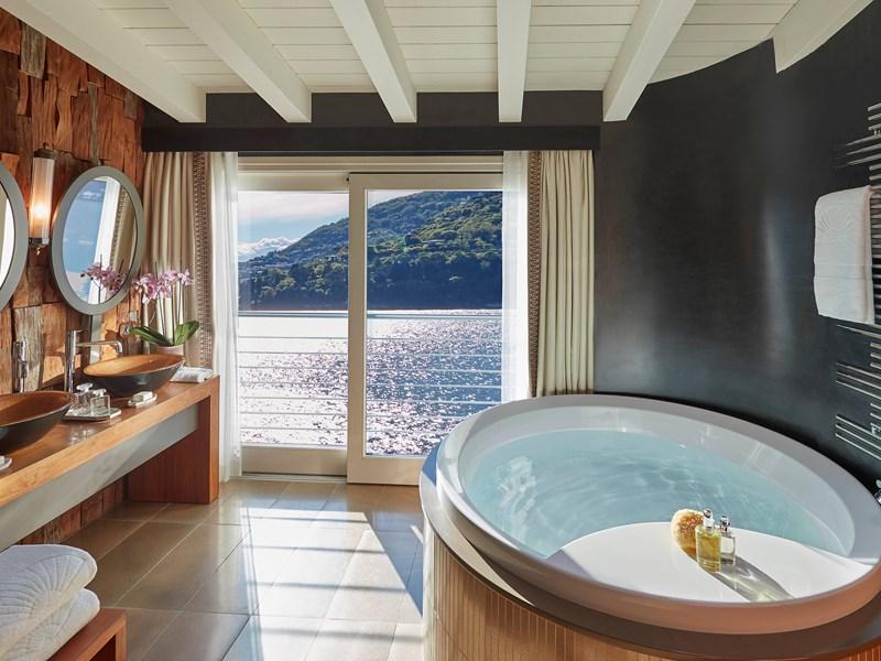 La salle de bain de la Villa Della Rocca