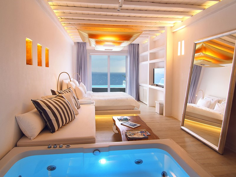 Junior Suite Piscine Privée du Cavo Tagoo à Mykonos