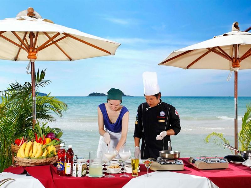 Cours de cuisine de l'hôtel Centara Tropicana situé à Koh Chang