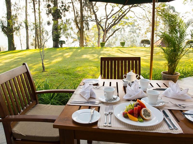 Petit dejeuner du Ceylon Tea Trails au Sri Lanka