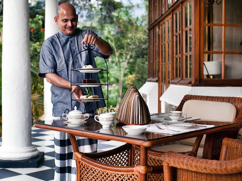 L'heure du thé au Ceylon Tea Trails à Nuwara Eliya