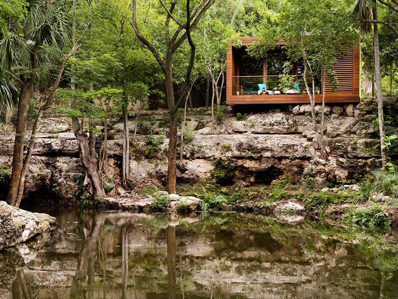 Vue du spa du Chable Resort, un véritable temple du bien-être
