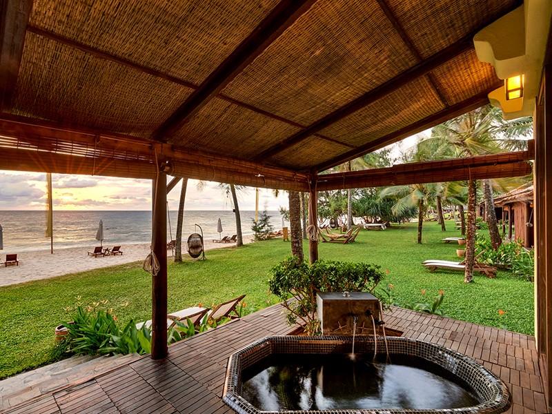 La terrasse de la Beach Front Villa
