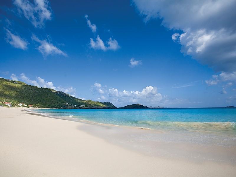La plage de l'hôtel Cheval Blanc St-Barth Isle de France
