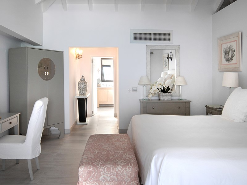 Beach room de l'hôtel Cheval Blanc à St-Barth