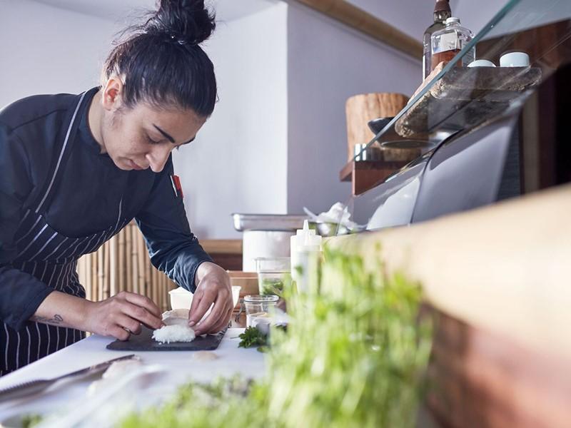 Le Sushi Bar du Chromata Santorin en Grèce