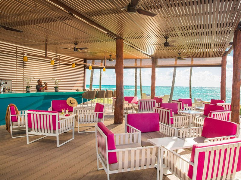Le Bar Lounge du Club Med Yucatan au Mexique
