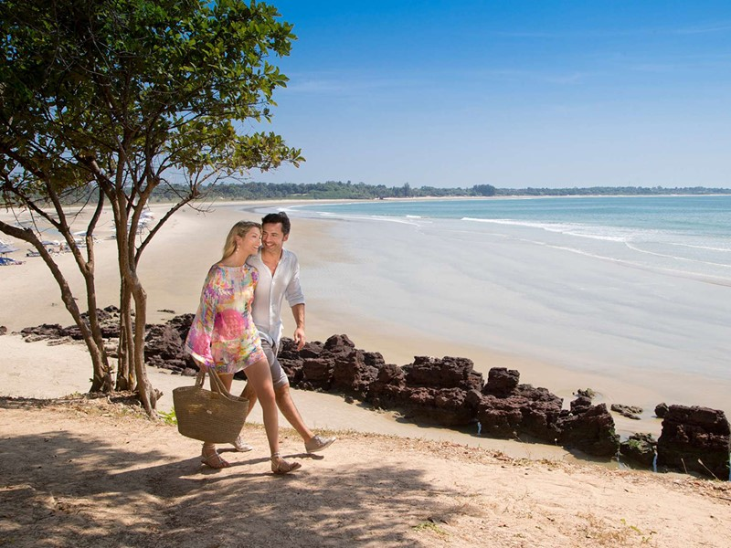 La belle plage de sable fin du Club Med Cap Skirring