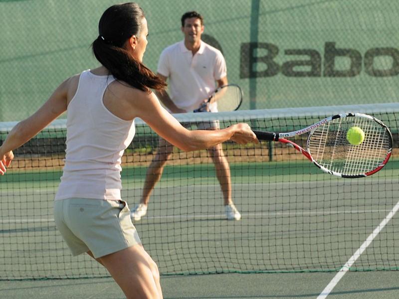Le court de tennis du Club Med Cargèse en Corse