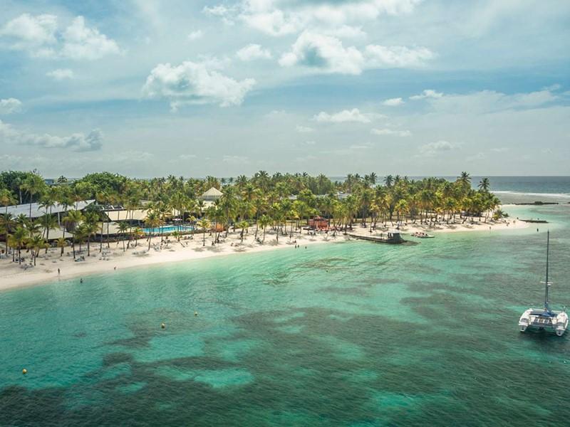 Vue du Club Med La Caravelle, situé sur l'île de Grande Terre