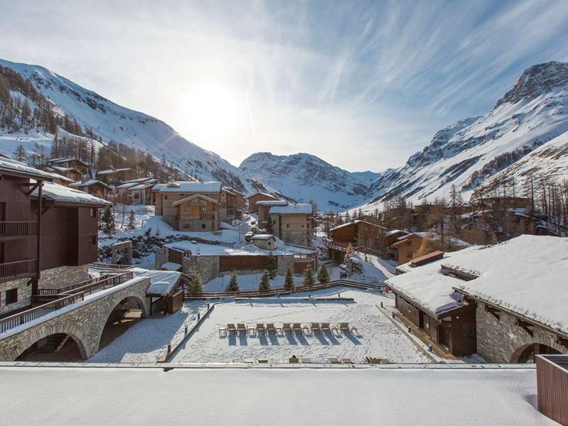 Vue du Club Med Val d'Isère, situé au pied de l'Espace Killy