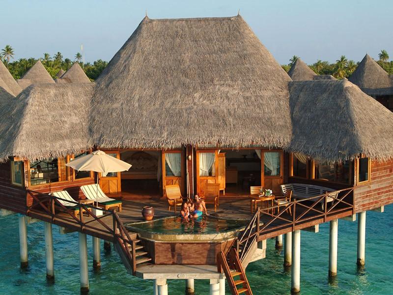 Vue de la Sunset Lagoon Villa