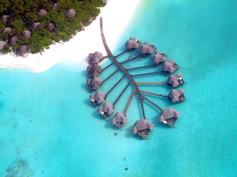 La vue aérienne du Coco Palm Dhuni Kolhu