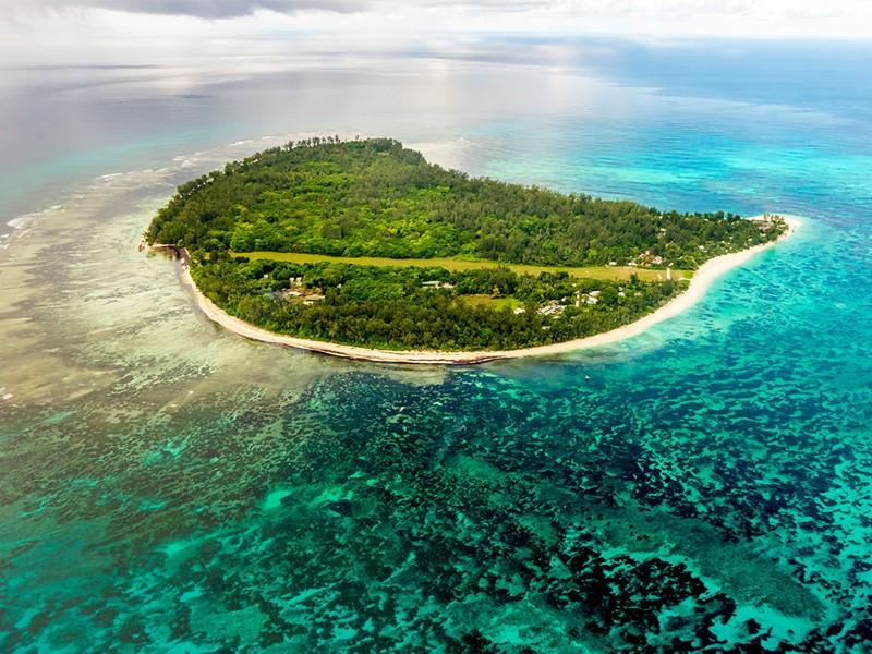 Vue aérienne de Denis Island