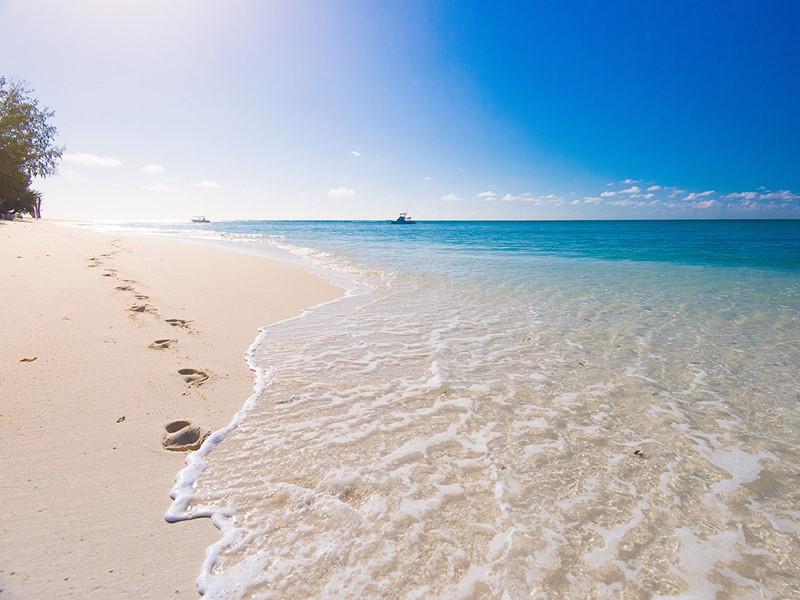 La superbe plage de Denis Island