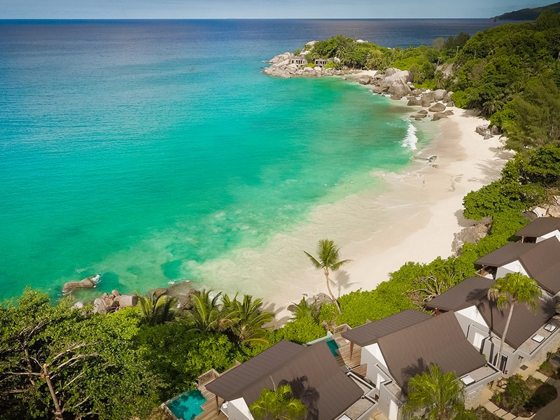 Vue aérienne du Carana Beach Hôtel