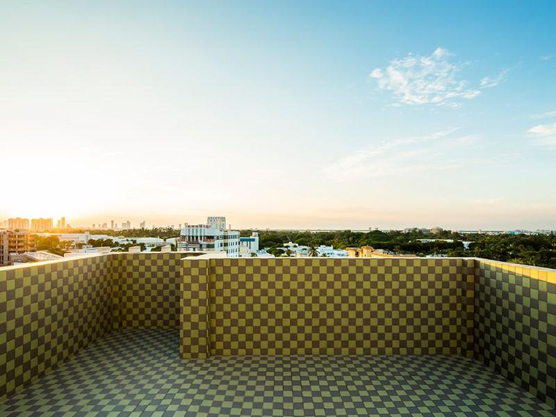Sublime coucher du soleil vu du haut du Como Metropolitan à Miami