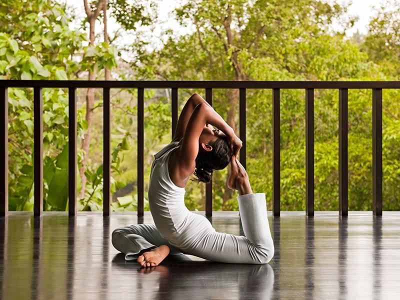 Yoga à l'hôtel Uma by Como situé à Ubud