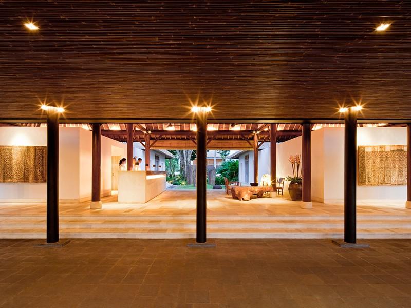 Le lobby de l'hôtel Uma by Como situé à Bali