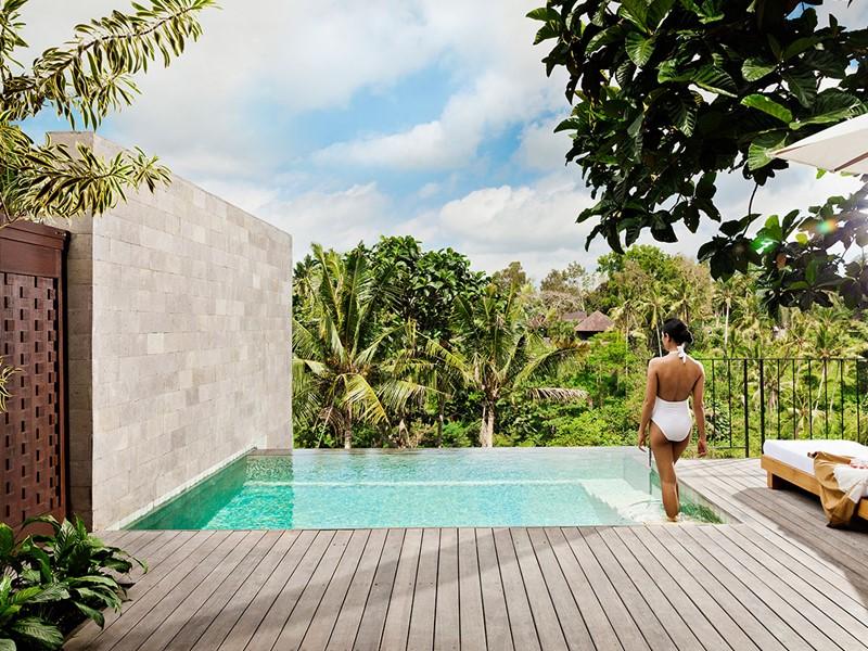 Piscine de l'Uma Pool Villa de l'hôtel Uma by Como