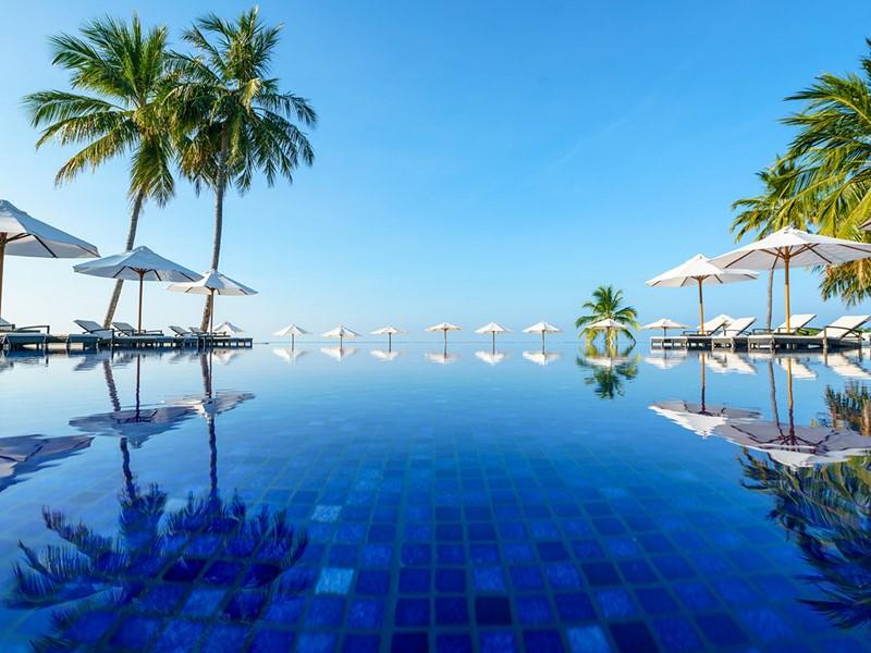 La piscine de l'hôtel Conrad Maldives Rangali Island