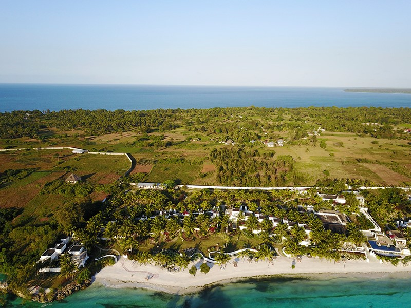 Vue aérienne du Constance Aiyana, situé sur l'île de Pemba
