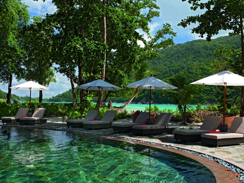 La piscine du restaurant Cyann