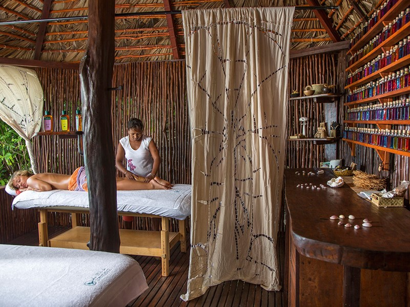 Le spa de l'hôtel 5 étoiles Constance Tsarabanjina Madagascar