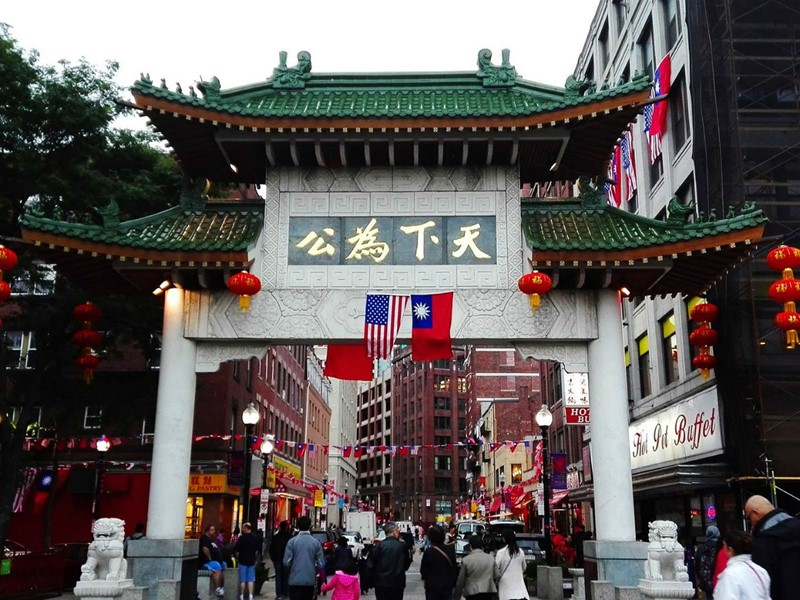Le quartier de Chinatown, à Boston