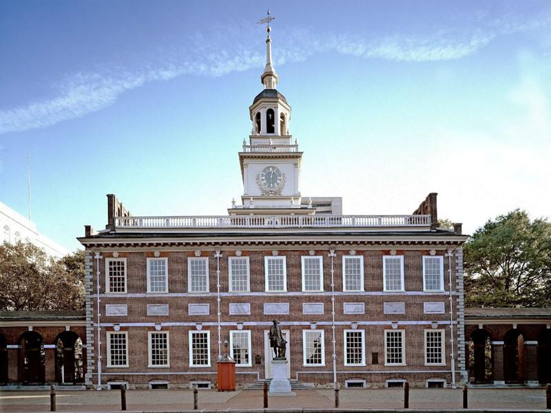 L'Independance Hall de Philadelphie, où a été signée la déclaration d'indépendance des Etats-Unis