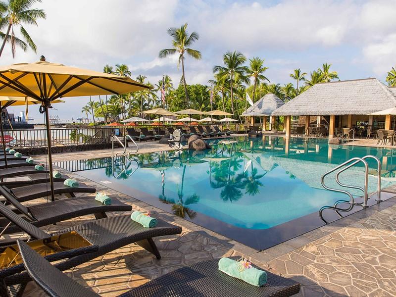 La superbe piscine du King Kamehameha's Kona à Hawaii